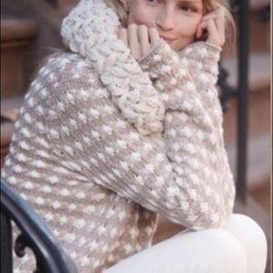 Sleeping On Snow Popcorn Knit Pullover Small